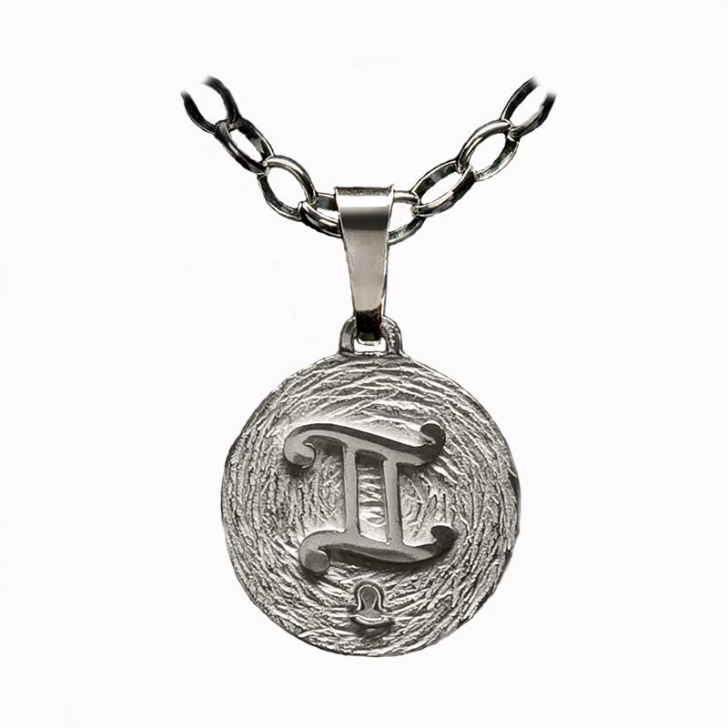 medalla plata geminis ascendente