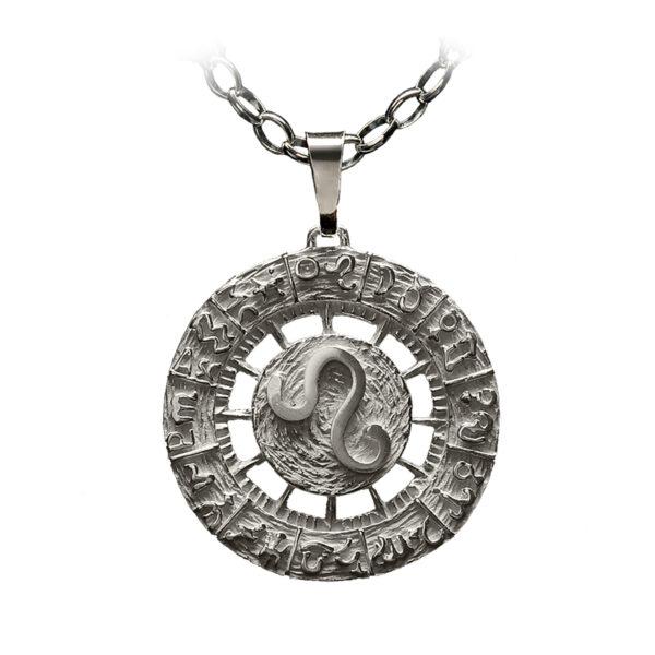 colgante plata leo