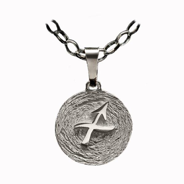 medalla plata sagitario