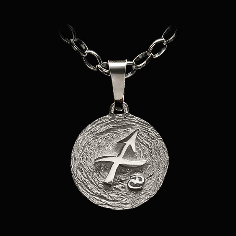 medalla plata sagitario ascendente