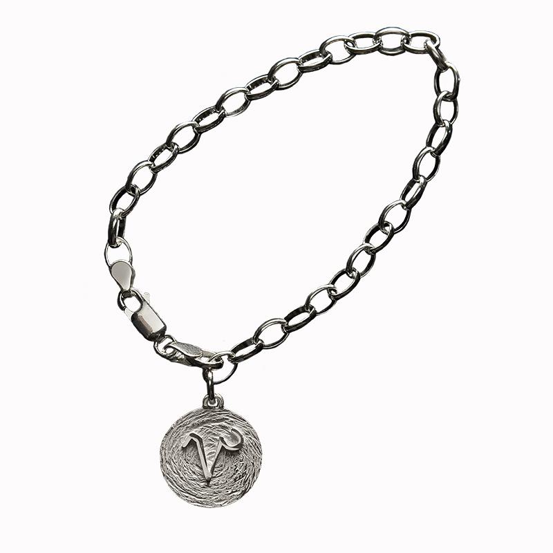 pulsera plata capricornio