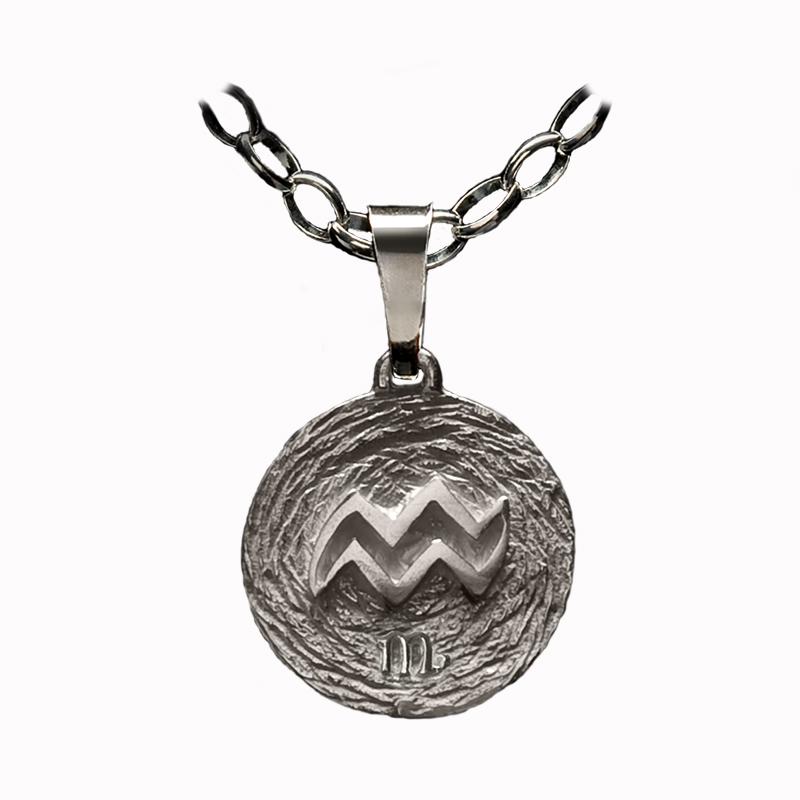 medalla plata acuario ascendente