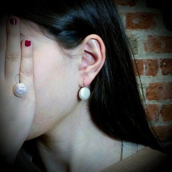 Pendientes Plata y Perlas Keshi