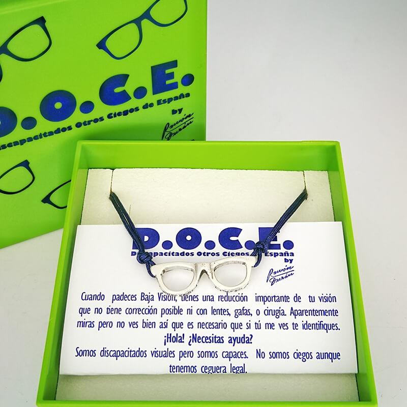 Collar de Plata Gafas D.O.C.E