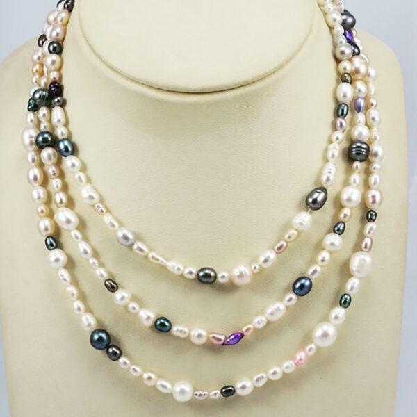 Collar Perlas Cultivadas Multicolor