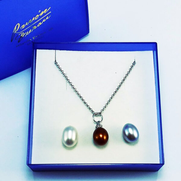 Collar de Plata Tres Perlas