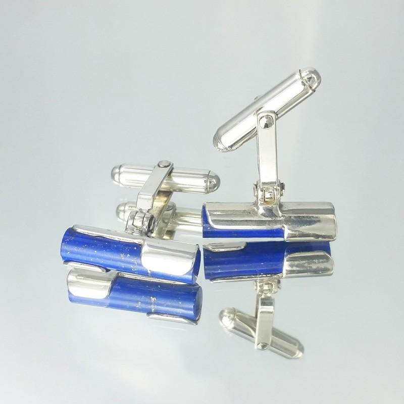 Gemelos de plata lapiz lazuli