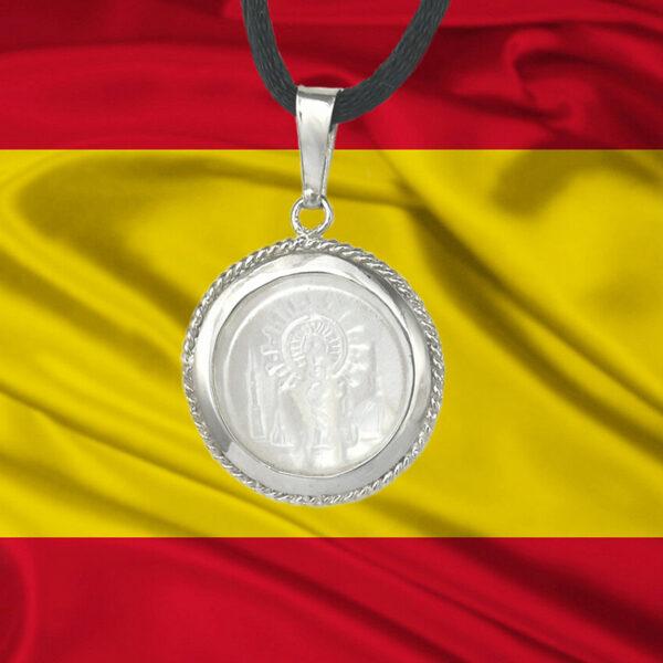 Medalla-nacar-Pilar-bandera-España