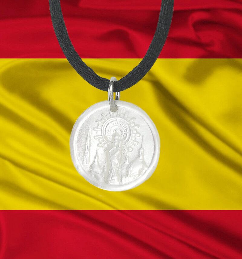 Medalla-nacar-plata-Pilar-Bandera-España