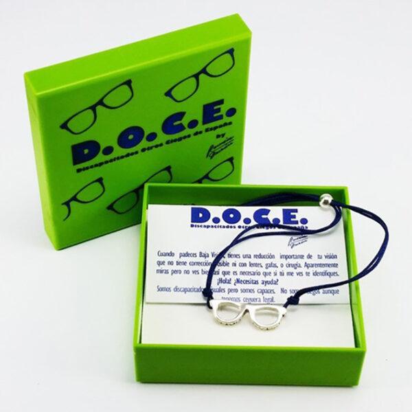 Pulsera de plata gafas D.O.C.E