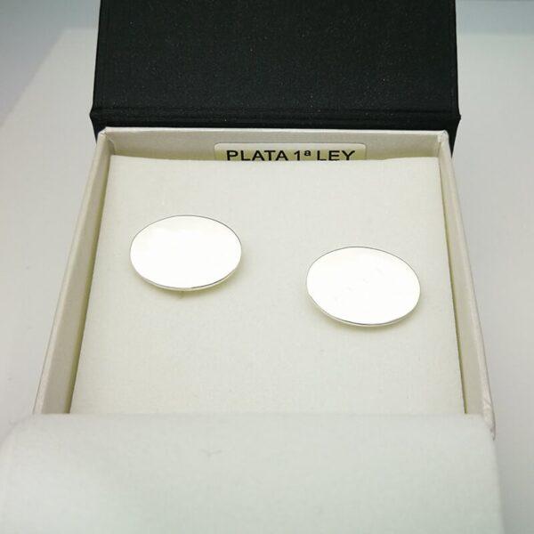 gemelos plata oval personalizados