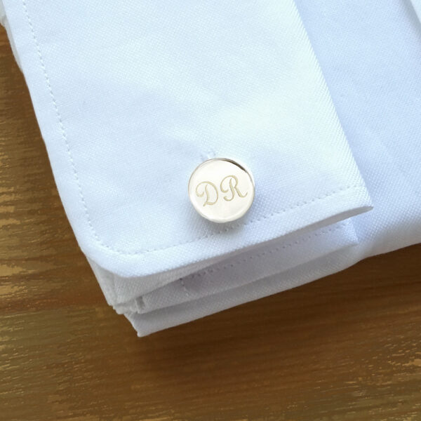 Gemelos-Plata-redondo-camisa-Grabado