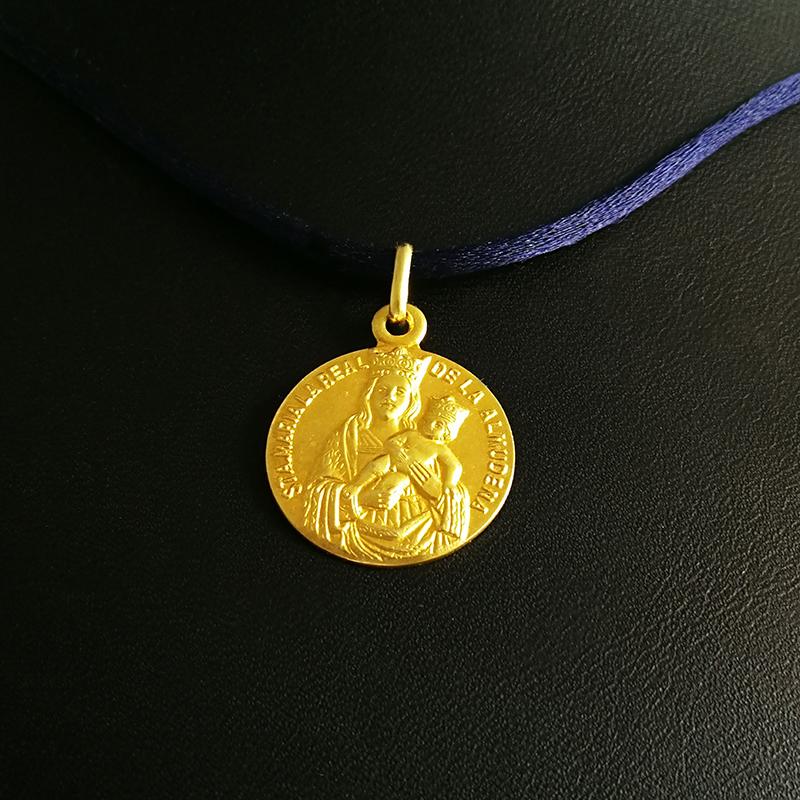 Medallas-oro-plata-Virgen Almudena