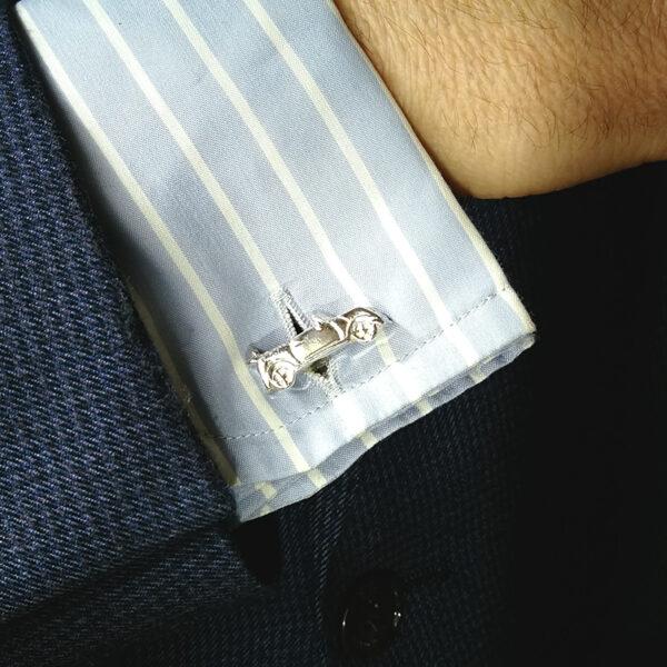 Gemelo-plata-mini-descapotable-camisa