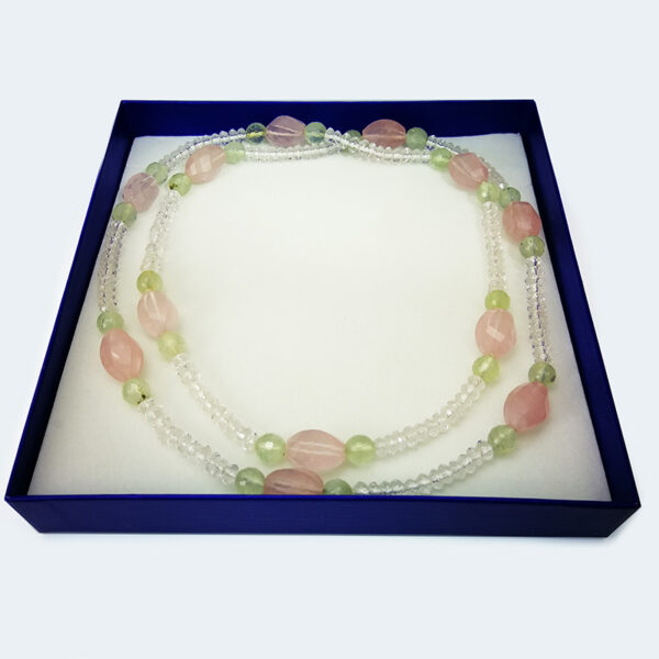 collar-cuarzo-rosa-verde-cristal-roca-estuche