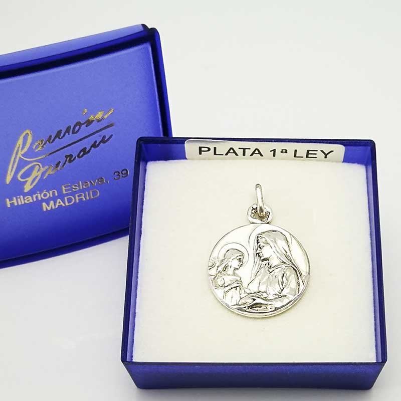 Medalla-plata-Santa-Ana-estuche